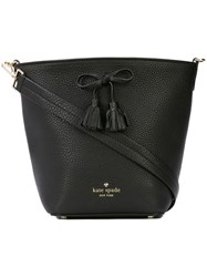 Kate Spade Bow Embellished Bucket Bag Black