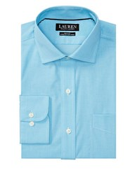 Lauren Ralph Lauren Slim Fit Stretch Estate Dress Shirt Turquoise