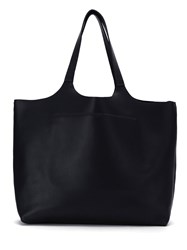 Osklen Leather Tote Bag Calf Leather Black