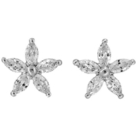 Jools By Jenny Brown Cubic Zirconia Stud Earrings