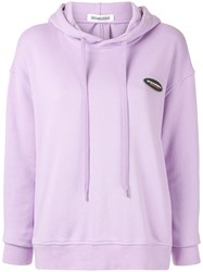 Ground Zero Cut Out Back Hoodie Purple
