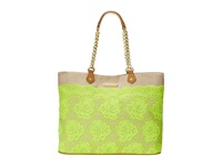 Betsey Johnson Lace Over Tote Lime Tote Handbags Green
