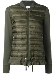 Moncler Padded Front Bomber Jacket Green