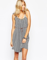 Oysho Print Tie Strap Beach Dress Multi