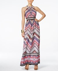 Inc International Concepts Printed Halter Maxi Dress Only At Macy's Zig Zag