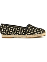Giuseppe Zanotti Design Metallic Threading Espadrilles Black