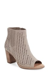 Toms Women's Majorca Perforated Suede Bootie Natural