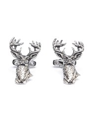 Paul Costelloe Antlers Head Cufflinks Silver