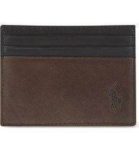 Ralph Lauren Leather Card Holder Mahogany W Bla