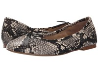 Sam Edelman Felicia Putty Shiny Burmese Python Print Women's Flat Shoes Gray