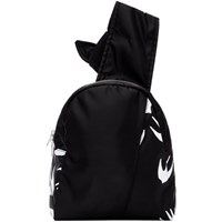 Mcq By Alexander Mcqueen Black Knotted Swallow Sling Backpack