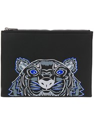 Kenzo Tiger Clutch Bag Black