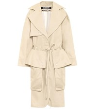 Jacquemus Le Manteau Bagli Cotton Coat Beige