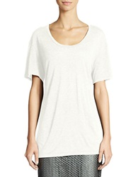 424 Fifth Relaxed Hint Of Metallic Tee Ivory