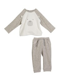 Mayoral Bear Face Long Sleeve Top W Matching Pants Size 2 12 Months Multi