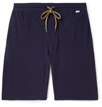 Paul Smith Cotton Jersey Drawstring Shorts Navy