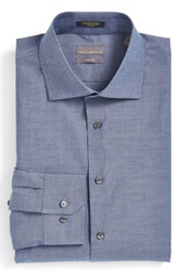 Calibrate Trim Fit Non Iron Stretch Dress Shirt Blue Denim