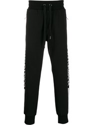 Dolce And Gabbana Logo Track Trousers Black