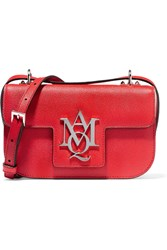 Alexander Mcqueen Insignia Textured Leather Satchel