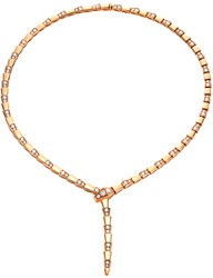 Bulgari Serpenti 18Kt Rose Gold And Diamond Necklace