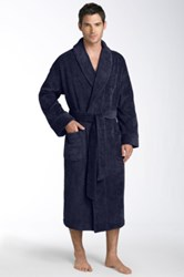 Nordstrom Shawl Collar Velour Robe Blue