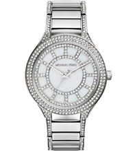 Michael Kors Mk3311 Kerry Sterling Silver And Mother Of Pearl Watch White Genuine