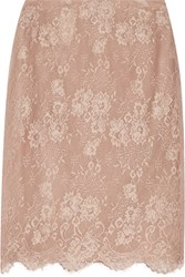 Valentino Silk Lace Skirt Taupe