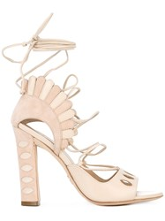 Paula Cademartori Lotus Sandals Nude Neutrals