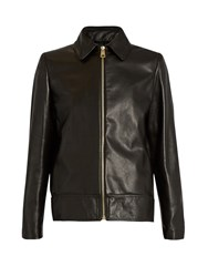 Lanvin Point Collar Leather Jacket Black