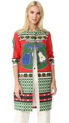 Stella Jean Egg Shaped Coat Multi Color