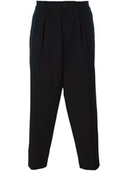 Marni Front Pleat Tapered Trousers Black