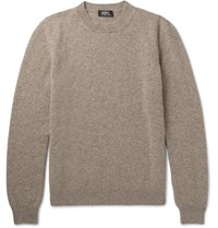 A.P.C. Wool And Cashmere Blend Sweater Beige