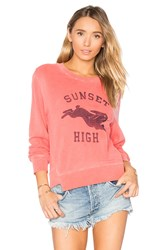 Mother The Step Matchbox Sweatshirt Coral