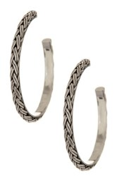 Lois Hill Sterling Silver Large Hoop Earrings Metallic