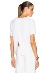 Adam By Adam Lippes Adam Lippes Ottoman Ribbed Open Back Knit Tee In White