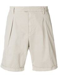 Dondup Designer Tailored Shorts Nude And Neutrals