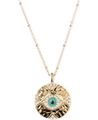 Lonna And Lilly Gold Tone Evil Eye Pendant Necklace