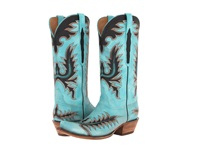 Lucchese L4727.S54 Mayela Stitch Destroyed Emareld Blue Cowboy Boots Green