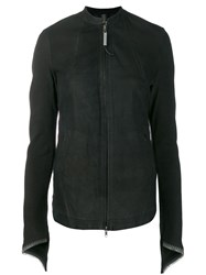 Isaac Sellam Experience Fitted Lambskin Jacket Black