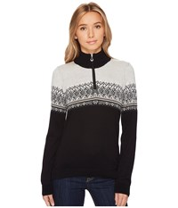 Dale Of Norway Hovden Sweater F Black Light Charcoal Smoke Beige Off White Women's Sweater