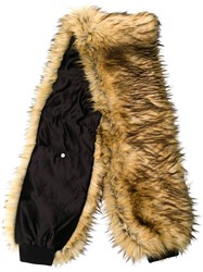 Filles A Papa Synthetic Fur Scarf Acrylic Polyamide Polyester Acetate Nude Neutrals
