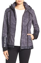 Guess Women's Water Resistant Hooded Soft Shell Jacket Print
