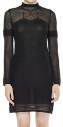 Leon Max Fine Gauge Semi Sheer Sweater Dress