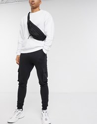 Only And Sons Cargo Cuffed Joggers In Black