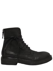 Marsell 40Mm Parrucca Leather Combat Boots