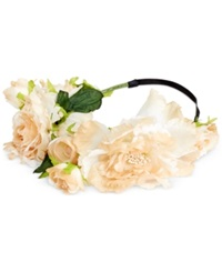 Collection Xiix Rose And Carnation Headwrap White