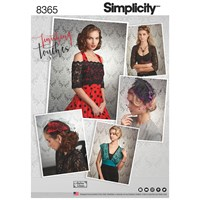 Simplicity Pattern Misses' Cover Ups Fascinator And Hat 8365