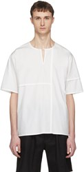 Phoebe English Off White Short Sleeve Patched Henley