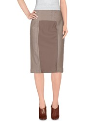 Ivan Montesi Skirts Knee Length Skirts Women Dove Grey