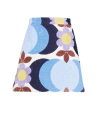 Miu Miu Exclusive To Mytheresa.Com Printed Cotton Terry Skirt Multicoloured